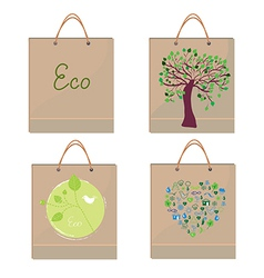 Bags eco design paper vector image
