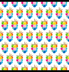 colorful grapes bunch pattern design vector image vector image