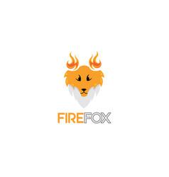fire fox logo vector image