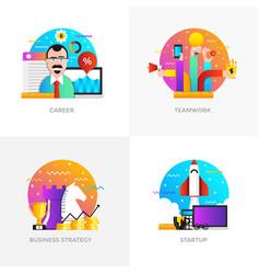 flat designed concepts - career teamwork vector image