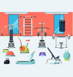 gym interior with different sport vector image