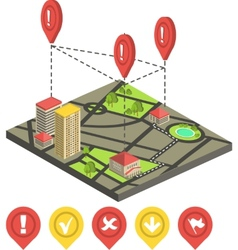 Isometric city map concept vector