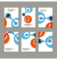 Molecule atom design template background vector image