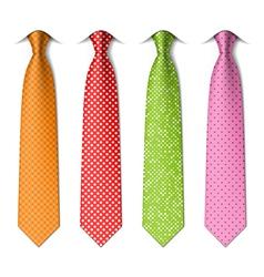 Polka and pin dots silk ties vector image