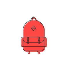 red backpack thin line icon vector image vector image