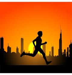running man 2 vector image vector image