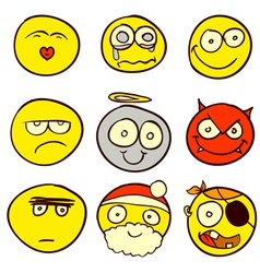 Smiley Doodle 1 vector image