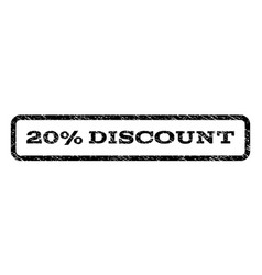 20 percent discount watermark stamp vector image