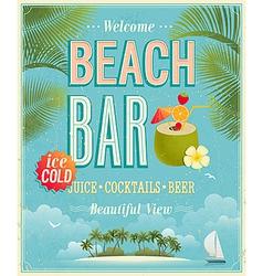 beach bar vector image vector image