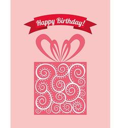 birthday design vector image vector image