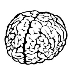Black human brain sign vector image vector image