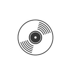 Compact CD disk DVD vinyl record icon vector image