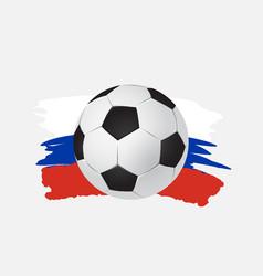 logo soccer cup on football vector image