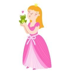 Princess and frog vector image