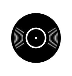 Retro vinyl record icon vector image