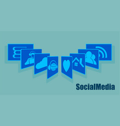 Sign the card fan social networking recruitment vector