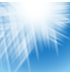 Abstract white background with blue centered rays vector image vector image