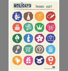Christmas and other holidays web icons set vector image vector image