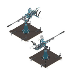 defense air gun isometric war pakistan day vector image