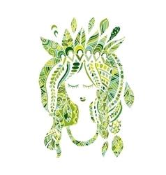 Female portrait ethnic beauty for your design vector image