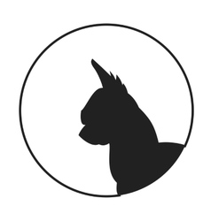 Silhouette of a dog head chihuahua vector image vector image