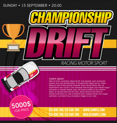top view of a drifting cars drift banner for web vector image