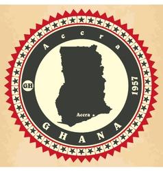 Vintage label-sticker cards of Ghana vector image vector image