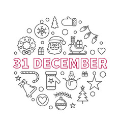 31 december concept outline creative vector image