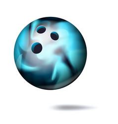 3d bowling ball classic ball vector image