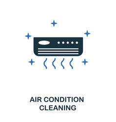air condition cleaning icon creative two colors vector image