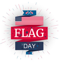 american flag day vector image