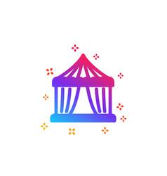 Amusement park tent icon circus sign vector