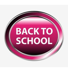 Back to school button vector