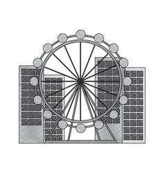 barcelona attraction ferris wheel landmark tourism vector image