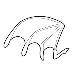 bat wing icon outline style vector image