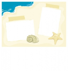 beach photo frame vector image
