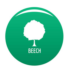 beech tree icon green vector image