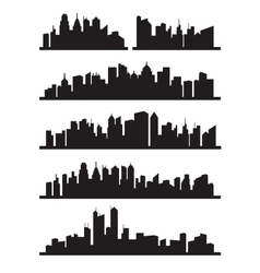 big city icons vector image