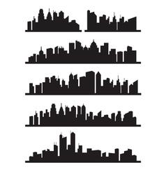 big city icons vector image