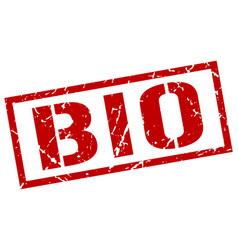 Bio stamp vector