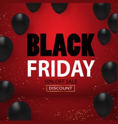 black friday sale black balloons background vector image