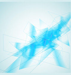 blue geometric abstract background vector image