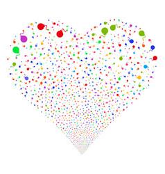 bomb fireworks heart vector image
