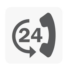 call center icon on white vector image