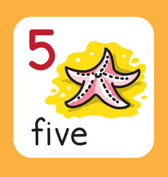 Card for learning to count from 1 to 10 education vector
