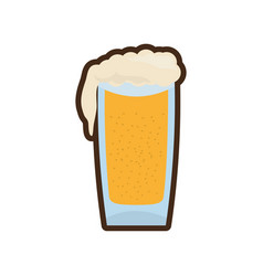 Cartoon glass cold beer image vector