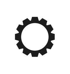 cogwheel black icon vector image