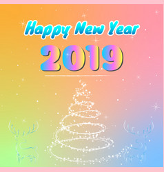 colorful happy new year 2019 vector image