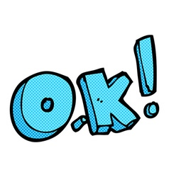 Comic cartoon OK symbol vector