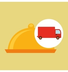 Delivery truck food icon design vector